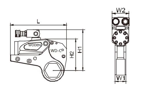 WD-C系列中空液压扳手是一款专业级别的中空液压扳手。与驱动液压扳手相比中空液压扳手直接作用于螺母,本身体积轻薄,非常适合在狭小的空间中作业。通过调换工作头、装配变径套来适应不同的工况,它覆盖了从S19S175范围内所有的螺栓。WODEN沃顿品牌提供全球售后服务,拥有完整的配套供应能力。 【联系方式】 【免费电话】:400-060-9761 【公司电话】:0555-2395101 【24小时电话】:1805595507 【公司传真】:0555-2395507 【地址】:安徽省马鞍山市经济开发区红旗