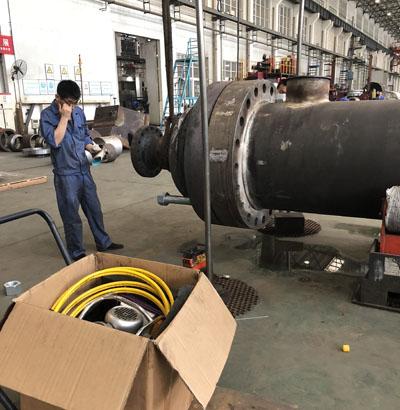 西安某压力容器厂使用沃顿液压扳手