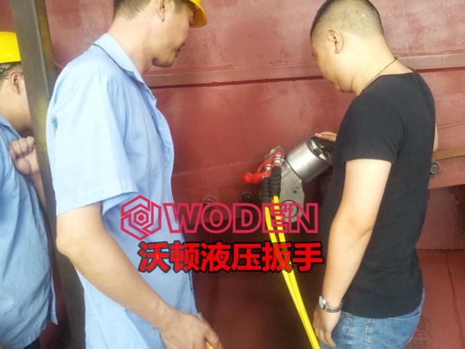 沃顿液压扳手现场培训使用。