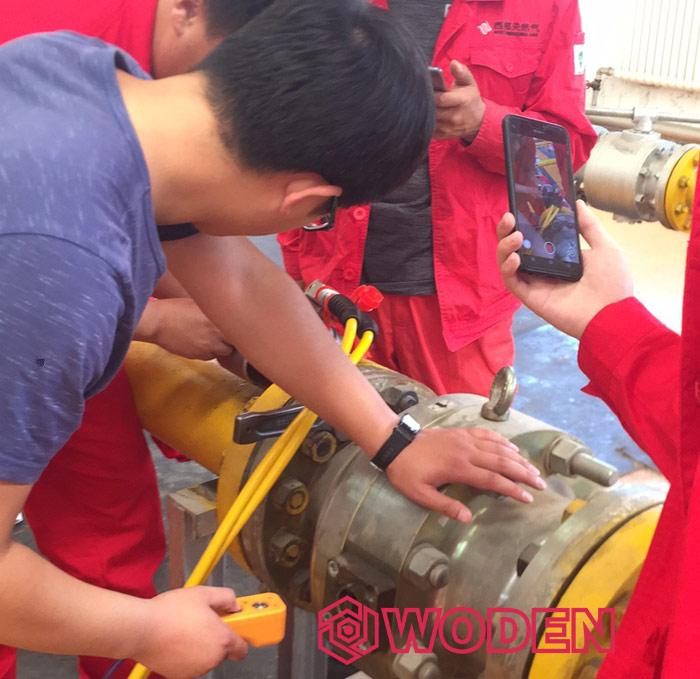 内蒙古西部天然气行业专用液压扳手培训现场2