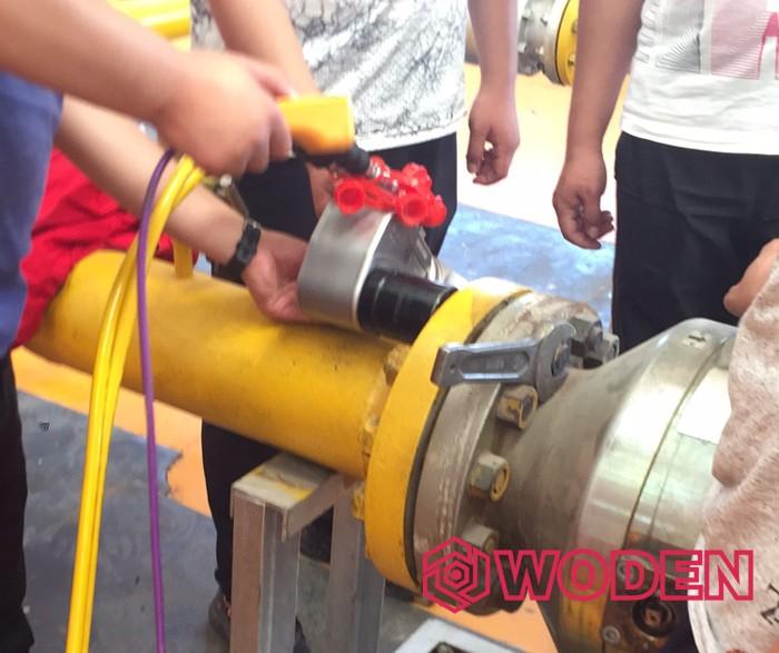 内蒙古西部天然气行业专用液压扳手培训现场1