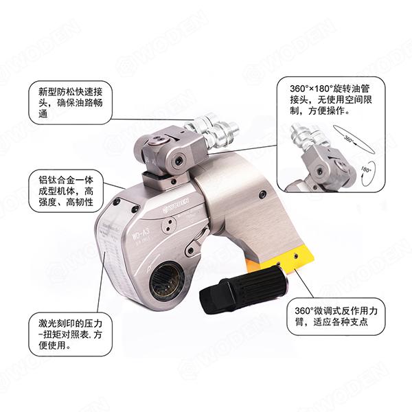 风电叶片安装专用液压扳手特点