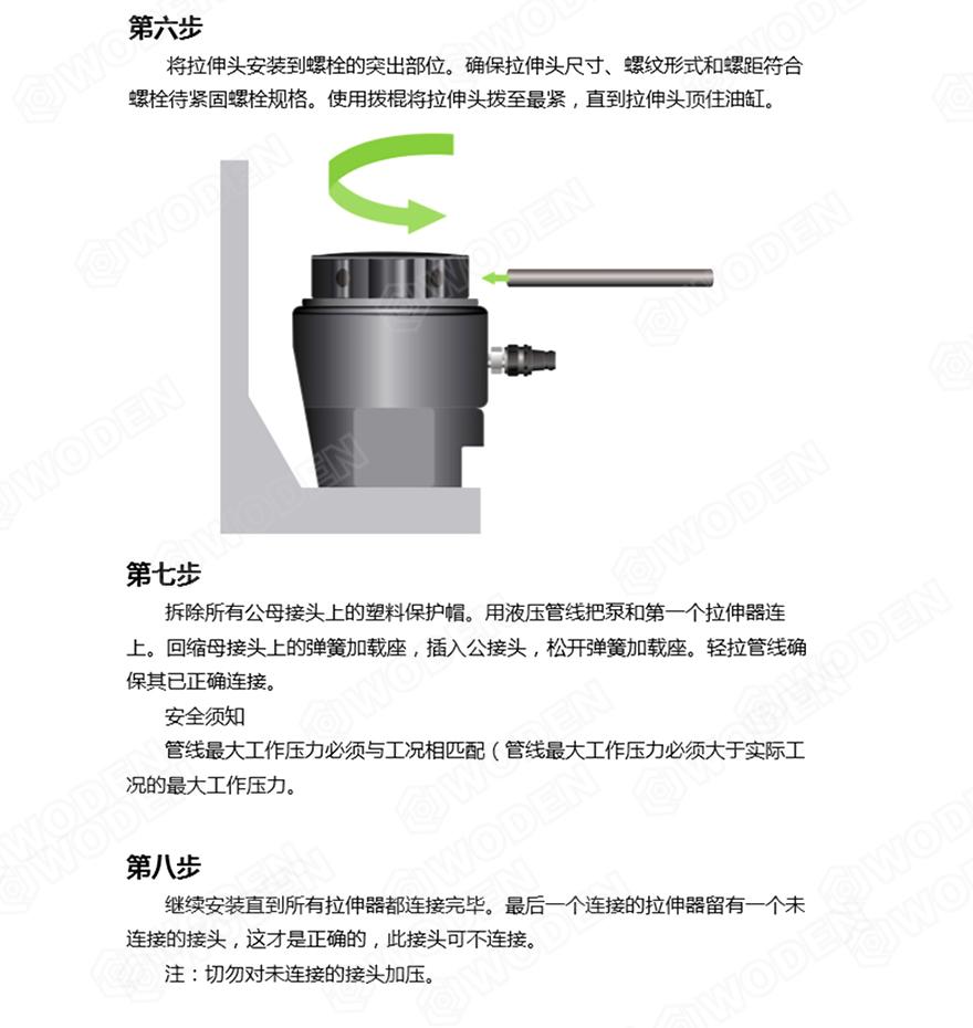 HTALOL雷电竞螺栓拉伸器使用步骤