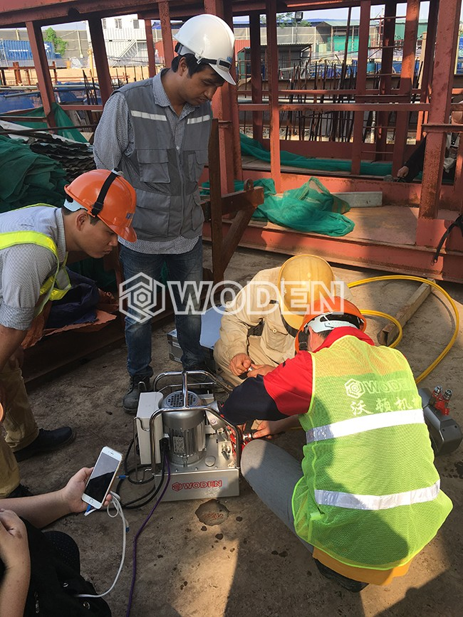 雷电竞网页技术人员在越南现场培训情景
